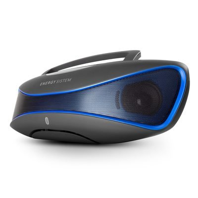 Energy Sistem Music Box BZ6 - Altavoz con Bluetooth y Display retroiluminado (2.1 estéreo portátil, 12 W de Potencia Real, Bluetooth 4.0, Lector USB/SD, Radio FM, Audio-In) Color Negro